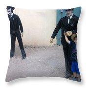 3 Godfathers Homage 1948 Ok Corral Tombstone Arizona  Throw Pillow