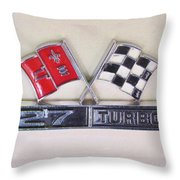 427 Turbo Jet Corvette Emblem Throw Pillow