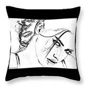 # 9 Adriana Lima Portrait. Throw Pillow