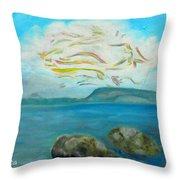 A Cloud Over The Sea Throw Pillow