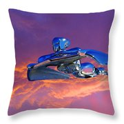 A Flying - Flying Lady  Throw Pillow
