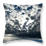 A Glorious Cloudscape Throw Pillow