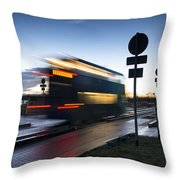 A Guided Bus Cambridgeshire Uk Throw Pillow