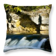 A Quiet Place  Waterfall Throw Pillow