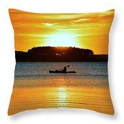 A Reason To Kayak - Summer Sunset Throw Pillow