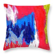 Abstract Tn 005 By Taikan Throw Pillow