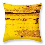 Abstracted In Ochre Throw Pillow