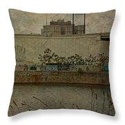 Across The Schuylkill River In Philadelphia - Pennsylvania - Usa Throw Pillow