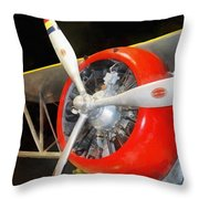 Airplane - F3f-2 Biplane Throw Pillow