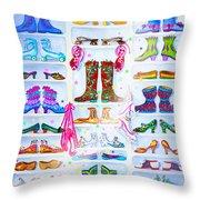 Alaska Berry Fairy Shoon Throw Pillow