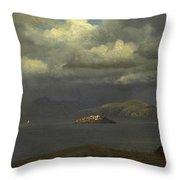 Alcatraz San Francisco Bay Throw Pillow