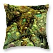 Alien Sea Eggs Throw Pillow