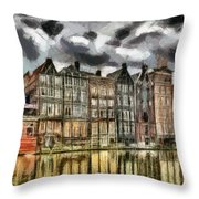 Amsterdam Water Canals Throw Pillow
