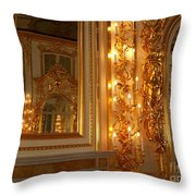 Ancient Hall In Museum Throw Pillow