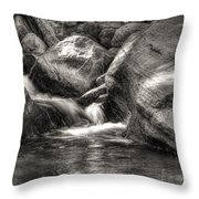 Andreas Creek Waterfall Throw Pillow