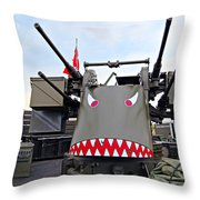 Anti-aircraft Guns Throw Pillow