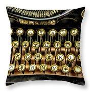 Antique Keyboard Throw Pillow