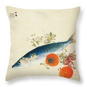 Autumn Fattens Fish And Ripens Wild Fruits Throw Pillow