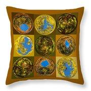 Autumn  Spheres Throw Pillow
