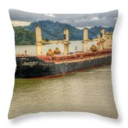 Avocet In The Panama Canal Throw Pillow