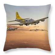 B17 - 486th Bg - Homeward Throw Pillow