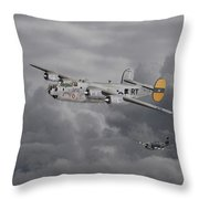 B24 Liberator  446th Bomb Group Throw Pillow