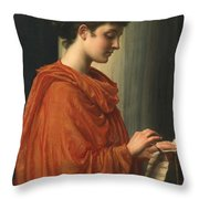 Barine Throw Pillow by Sir Edward John Poynter