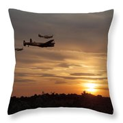 Battle Of Britain Memorial Sunset Throw Pillow