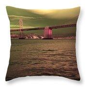 Bay Bridge, San Francisco Throw Pillow