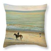 Beach Dialogue Dunwich Throw Pillow