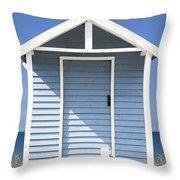 Beach Hut Throw Pillow