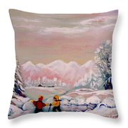 Beautiful Winter Fairytale Throw Pillow