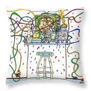 Berserk Kitchen Gadgets - With Male Tv Celebrity Chef Throw Pillow