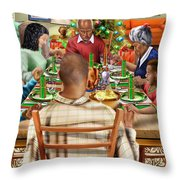 Bless Us O Lord And These Thy Gifts Throw Pillow