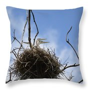 Blue Heron Rookery 7212 Throw Pillow