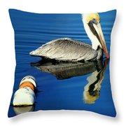 Blues Pelican Throw Pillow