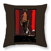 Bogus Drawing Photo Of Billy The Kid Ft. Sumner New Mexico C.1879-2013 Throw Pillow
