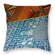 Bottom Of A Foot Of Reclining Buddha In Wat Po In Bangkok-thail Throw Pillow