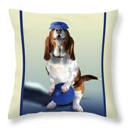 Bowling Hound Throw Pillow
