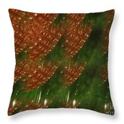 Brilliant Green Abstract 2 Throw Pillow