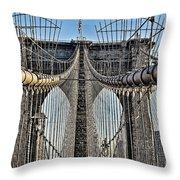 Brooklyn Bridge 3 Throw Pillow