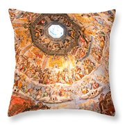Brunelleschi Cupola Of Florence Duomo. Throw Pillow