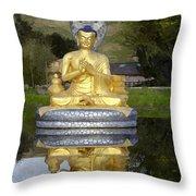 Buddha 25 Throw Pillow