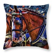 Budwieser Clydesdale Throw Pillow