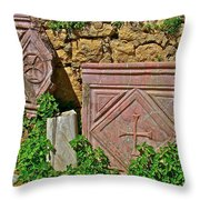 Byzantine Cross In Myra-turkey Throw Pillow