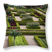 Cabbage Garden Chateau Villandry  Throw Pillow