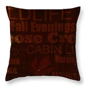 Cabin Life Throw Pillow