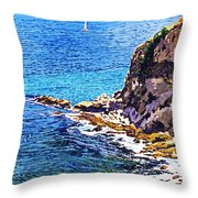 California Coastline  Throw Pillow by David Lloyd Glover