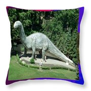 Canadian Dinosour Museaum    Canada Is Rich In Fossils Especially The Provinces Of Alberta And Bri Throw Pillow
