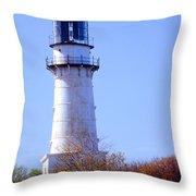 Cape Elizabeth Lighthouse Throw Pillow